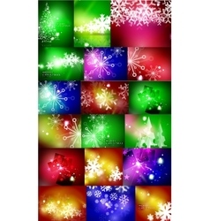 Set of Christmas abstract backgrounds vector image