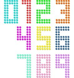 Set of pixel digit numbers vector image