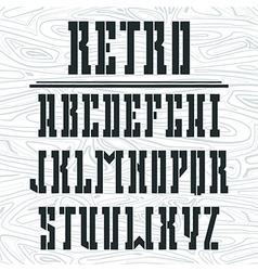Stencil plate bold serif font vector