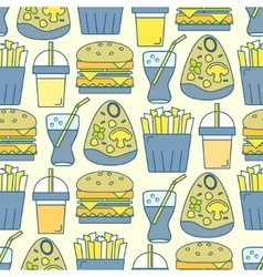 Tasty seamless pattern vector image vector image