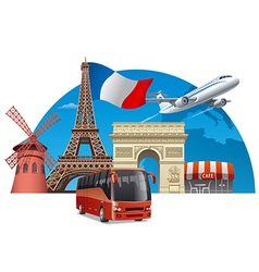 tour in france vector image