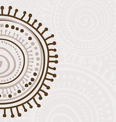 Tribal ornament background vector image vector image