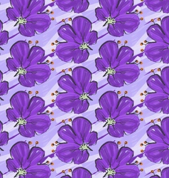 Big purple flower on purple brushed background vector
