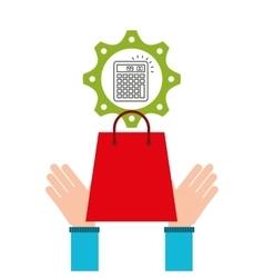 e-commerce business calculator money design icon vector image