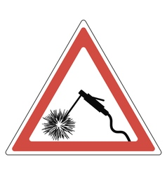 Sign attention welding vector