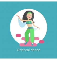 Girl executes oriental dance vector