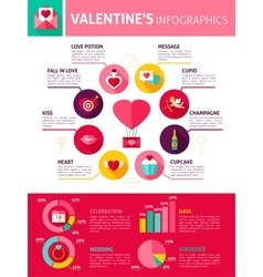 Valentine day infographics vector