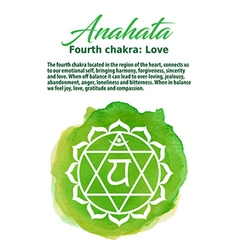 Anahata Chakra symbo vector image