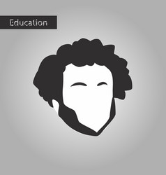 black and white style icon man vector image