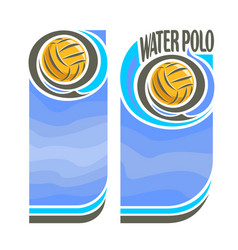 banners for water polo vector image