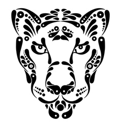 Panther tattoo symbol decoration vector image