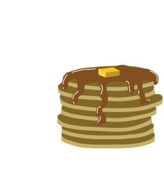 Stack of pancakes with syrup vector