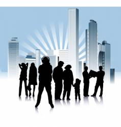 Urban people variation vector
