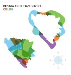 Abstract color map of bosnia and vector