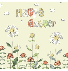 Easter card hand drawn vector
