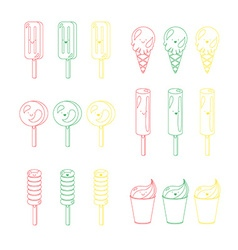Set of emotional ice-creams vector