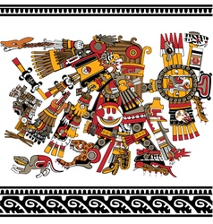 Aztec god vector