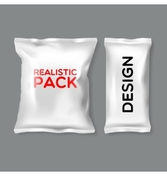 Realistic pack templates vector