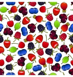Colorful seamless pattern with sweet berries vector