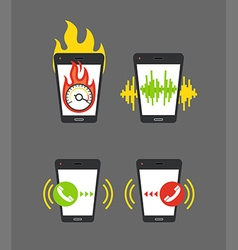 Different smartphone activities vector
