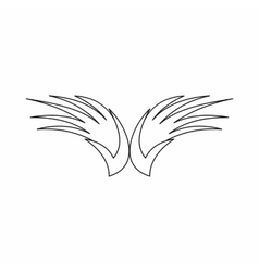 Wing icon outline style vector