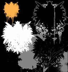grunge heraldry pack vector image