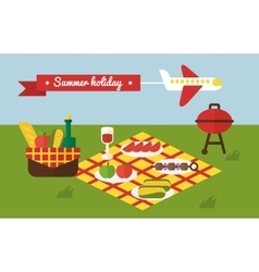 Bbq party barbecue summer picnic invitation vector