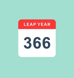 Calendar style flat leap year 366 days Calendars vector image vector image