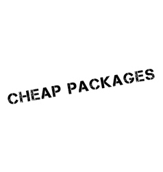 Cheap packages rubber stamp vector