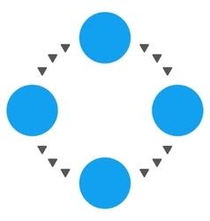 Circular Relations Flat Symbol vector image