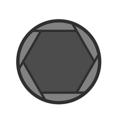closed objective icon flat style vector image