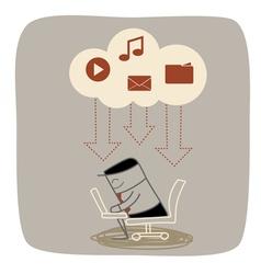 Cloud Download vector image