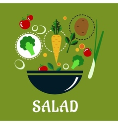 Cooking salad design with vegetables and vector