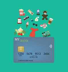 Credit card shopping vector