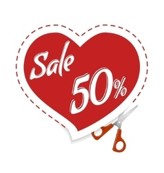 Cut Cupid for discounts vector image vector image
