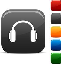 headphones icons vector image