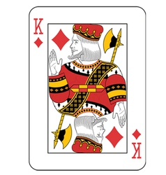 King of diamonds vector