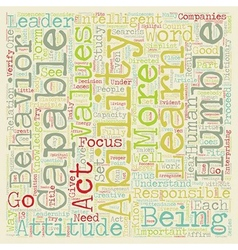 Leadership is based on values abilities of a vector