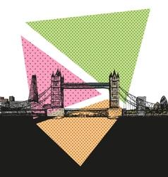 London bridge drawing vector