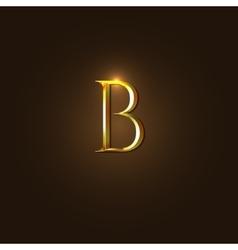 Modern of gold letter b vector
