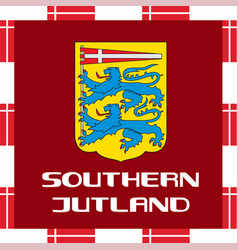 national ensigns of denmark - southern jutland vector image vector image