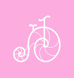 Old retro bicycle line art design vector