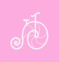 Old retro bicycle line art design vector