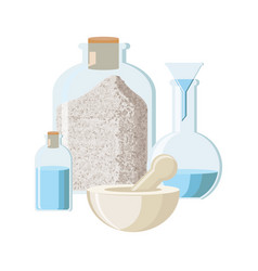 Pharmacy chemistry or alchemy concept in vintage vector