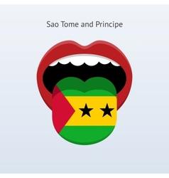 Sao tome and principe language abstract human vector
