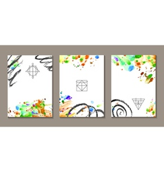 Set of templates vector image vector image