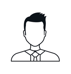 Silhouette man avatar isolated vector