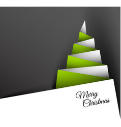 Simple christmas tree made from paper vector