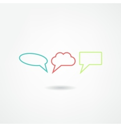 think bubble icon vector image vector image