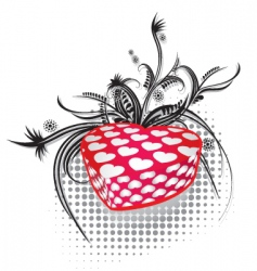 valentines gift 2 vector image vector image